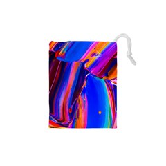 Abstract Acryl Art Drawstring Pouches (xs)