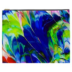 Abstract Acryl Art Cosmetic Bag (xxxl)