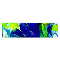 Abstract Acryl Art Satin Scarf (oblong)