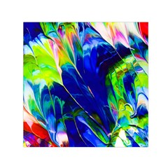 Abstract Acryl Art Small Satin Scarf (square)