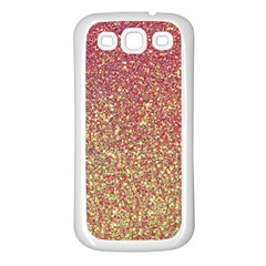 Rose Gold Sparkly Glitter Texture Pattern Samsung Galaxy S3 Back Case (white)