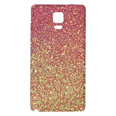 Rose Gold Sparkly Glitter Texture Pattern Galaxy Note 4 Back Case