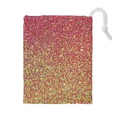 Rose Gold Sparkly Glitter Texture Pattern Drawstring Pouches (extra Large)