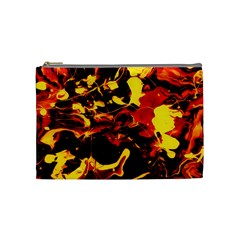 Abstract Acryl Art Cosmetic Bag (medium)