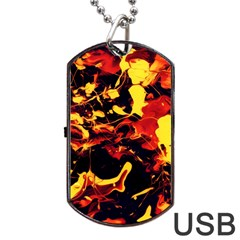 Abstract Acryl Art Dog Tag Usb Flash (two Sides)
