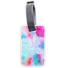 Pink And Purple Galaxy Watercolor Background  Luggage Tags (one Side)