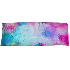Pink And Purple Galaxy Watercolor Background  Body Pillow Case Dakimakura (two Sides)