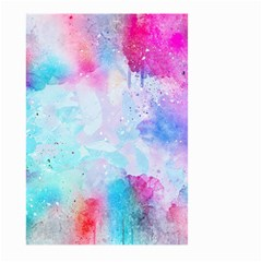 Pink And Purple Galaxy Watercolor Background  Large Garden Flag (two Sides)