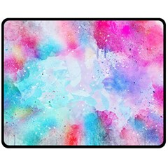 Pink And Purple Galaxy Watercolor Background  Double Sided Fleece Blanket (medium)