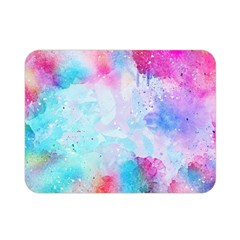 Pink And Purple Galaxy Watercolor Background  Double Sided Flano Blanket (mini)