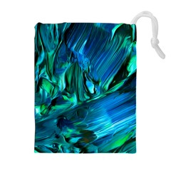 Abstract Acryl Art Drawstring Pouches (extra Large)