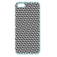 Black And White Waves Illusion Pattern Apple Seamless Iphone 5 Case (color)