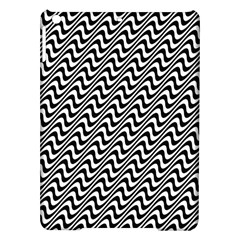 Black And White Waves Illusion Pattern Ipad Air Hardshell Cases