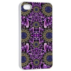 Flowers From Paradise In Fantasy Elegante Apple Iphone 4/4s Seamless Case (white)