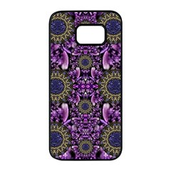 Flowers From Paradise In Fantasy Elegante Samsung Galaxy S7 Edge Black Seamless Case