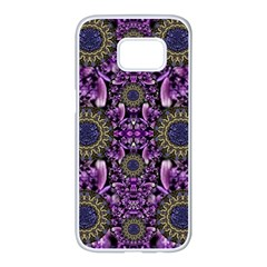 Flowers From Paradise In Fantasy Elegante Samsung Galaxy S7 Edge White Seamless Case