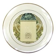 Art Nouveau Porcelain Plates