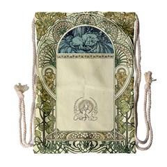 Art Nouveau Drawstring Bag (large)