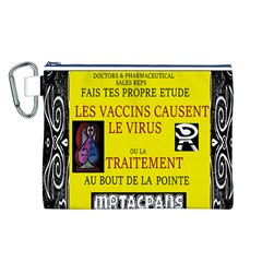 Ronald Story Vaccine  Canvas Cosmetic Bag (l)