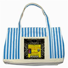 Vaccine  Story Mrtacpans Striped Blue Tote Bag