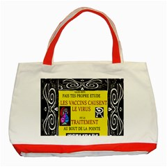 Vaccine  Story Mrtacpans Classic Tote Bag (red)
