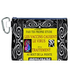Vaccine  Story Mrtacpans Canvas Cosmetic Bag (xl)
