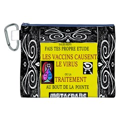 Vaccine  Story Mrtacpans Canvas Cosmetic Bag (xxl)