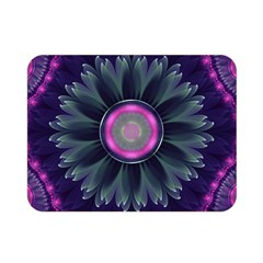Beautiful Hot Pink And Gray Fractal Anemone Kisses Double Sided Flano Blanket (mini)