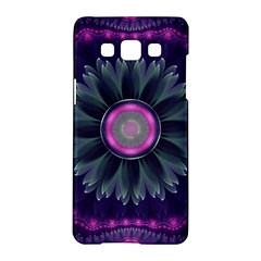 Beautiful Hot Pink And Gray Fractal Anemone Kisses Samsung Galaxy A5 Hardshell Case