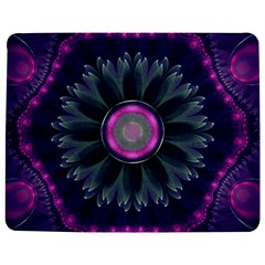 Beautiful Hot Pink And Gray Fractal Anemone Kisses Jigsaw Puzzle Photo Stand (rectangular)