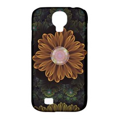 Abloom In Autumn Leaves With Faded Fractal Flowers Samsung Galaxy S4 Classic Hardshell Case (pc+silicone)