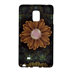 Abloom In Autumn Leaves With Faded Fractal Flowers Galaxy Note Edge