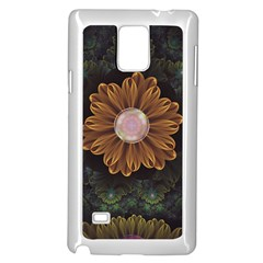 Abloom In Autumn Leaves With Faded Fractal Flowers Samsung Galaxy Note 4 Case (white)