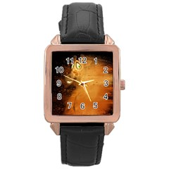 The Funny, Speed Giraffe Rose Gold Leather Watch