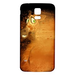 The Funny, Speed Giraffe Samsung Galaxy S5 Back Case (white)