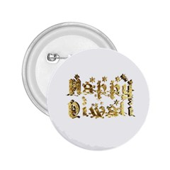 Happy Diwali Gold Golden Stars Star Festival Of Lights Deepavali Typography 2 25  Buttons