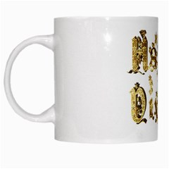Happy Diwali Gold Golden Stars Star Festival Of Lights Deepavali Typography White Mugs