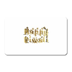 Happy Diwali Gold Golden Stars Star Festival Of Lights Deepavali Typography Magnet (rectangular)