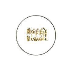 Happy Diwali Gold Golden Stars Star Festival Of Lights Deepavali Typography Hat Clip Ball Marker (4 Pack)