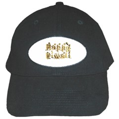 Happy Diwali Gold Golden Stars Star Festival Of Lights Deepavali Typography Black Cap