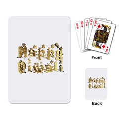 Happy Diwali Gold Golden Stars Star Festival Of Lights Deepavali Typography Playing Card