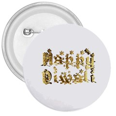 Happy Diwali Gold Golden Stars Star Festival Of Lights Deepavali Typography 3  Buttons