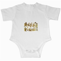 Happy Diwali Gold Golden Stars Star Festival Of Lights Deepavali Typography Infant Creepers