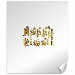 Happy Diwali Gold Golden Stars Star Festival Of Lights Deepavali Typography Canvas 8  X 10