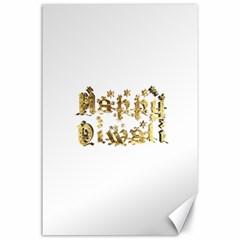 Happy Diwali Gold Golden Stars Star Festival Of Lights Deepavali Typography Canvas 24  X 36