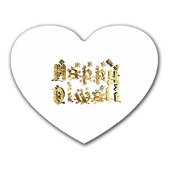 Happy Diwali Gold Golden Stars Star Festival Of Lights Deepavali Typography Heart Mousepads