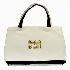 Happy Diwali Gold Golden Stars Star Festival Of Lights Deepavali Typography Basic Tote Bag (two Sides)