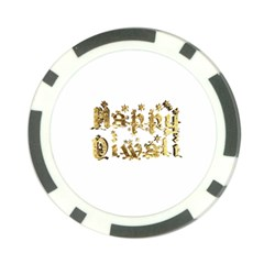 Happy Diwali Gold Golden Stars Star Festival Of Lights Deepavali Typography Poker Chip Card Guard