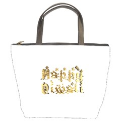 Happy Diwali Gold Golden Stars Star Festival Of Lights Deepavali Typography Bucket Bags
