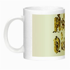 Happy Diwali Gold Golden Stars Star Festival Of Lights Deepavali Typography Night Luminous Mugs